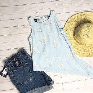GAP- Powder Blue Floral Tank Top